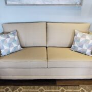 Beige-colored commercial grade sofa sleepers